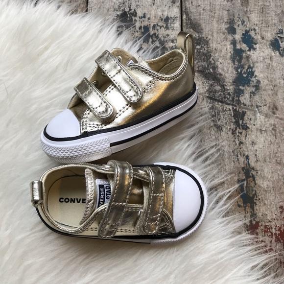 76417649af7 Converse Other - 🎄SALE🎄Converse gold shoes sz 4 infant